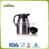1.2L hot selling double wall 18/8 stainless steel high grade vacuum camping tea jugs sets keeps sets hot or cold 24 hours
