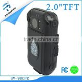 2.0''TFT HD display screen Law enforcement recorder with two channel two lens Build in rechargeable Li-battery, 3.7v 2600mA
