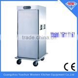 Popular high quality electric heated air circulation food warmer cart with single door