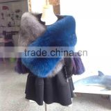 European Fashion Germany and french Style Top natural fox fur cape ,. Real fur shawls