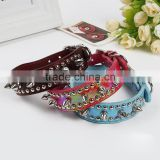 Factory direct creative new rivet collar premium pet supplies high quality leather dog collar