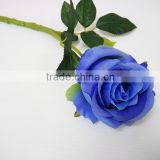 Blue Artificial Single Rose Flowers For Sale