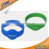 silicone rfid wristband/ recycled ntag203 waterproof silicone rfid wristband/hot swim pool silicone wristband