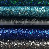 Modern design glitter fabric ,cheap glitter leather for walls and shoes