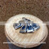 HOt item best seller excellent quality silver charm DIY 925 sterling silver charm card silver