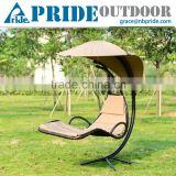 Indoor And Outdoor Swing Hammock Wrought Iron Sun Lounger With Canopy Balcony Swing Travel Sun Pool Lounger