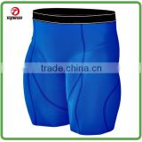 Made in china Breathable Compression Base Layer blue Mens Shorts