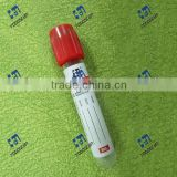 5ml plastic red tube with clot activator,vacuum blood collection tube/red tube