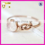 Best gift beautiful 925 sterling silver gold plated infinity knot moonstone ring