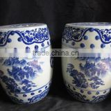Chinese Antique Blue and White Porcelain Garden Stool                                                                         Quality Choice