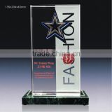 luxury new arrive crystal trophy crystal plaque for custom logo award crystal glass award souvienir gifts