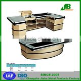 Fashion Design Electric Shop Cash Counter Table With Conveyor