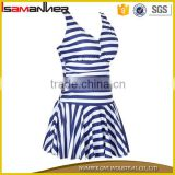 One piece customize halter fashion ladies sexy models bikini dress                                                                                                         Supplier's Choice