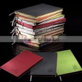 pu leather soft handmade organizer pu notebook with pen