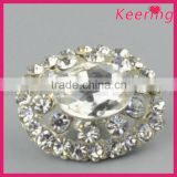 Custom clear crystal button with back shank WBK-1492