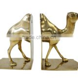 Bookends, Camel Bookends, Vintage Brass Bookends