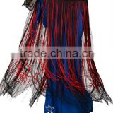 Long Flowing Tassel Belly Dance Sexy Hip Scarf of Tribal Style