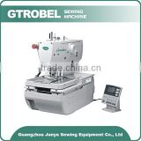 making jeans cotton pants and working wear button holing sewing machine