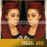 Hot selling 100g 18inch high quality synthetic crochet senegalese twist kinky braid hair