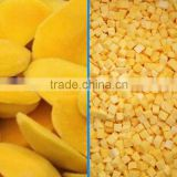 IQF frozen mango dice and halves with good quality and hot price