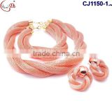 CJ1150 new arrival Fashion Design beads jewelry,Nice beads set with high quality necklace and earring for wedding/party