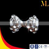 Removeable nail art thumb and toenail art decoration small rhinestones bowknot accessories