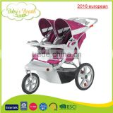 BS-38A 2016 european big wheel brand good softtextile baby stroller for twins                                                                         Quality Choice