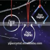 2016 best seller excellent quality Personalized shape Crystal Christmas Ornament, Custom Glass Ornament for Gifts