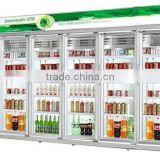 for chain store multidoor beverage display cooler/drinks display fridge/supermarket display refrigerator