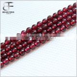 AAA Natural Red Garnet Gemstone Loose Round Beads Spacer Beads Strands For Jewelry Making