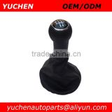 YUCHEN Car Shift Gear Knob With Black Stitches Leather For VW Golf 3 MKIII MK3 1992-1998/Vento 1992-1998/Lupo 6X0711 118F