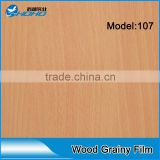 china high-quality wood grain lamination film/ semi-rigid pvc foil/pvc wooden grain film