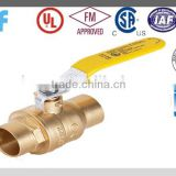 "1/2""-- 4""Forged Solder Full Port Sweat Brass Ball Valve with CSA certificated"