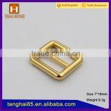 Small alloy buckle metal tri glide buckle for adjustable webbing