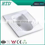 HTD-13 Bathroom squatting pan construction materials ceramic elegant squat toilet
