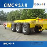 CIMC 20ft or 40ft Gooseneck Skeleton Container Chassis Trailer With Quality Wabco Brake Valve