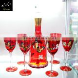 New Design High Crystal Decorative Corked Wine Glass Bottles 500ml For Brandy Wholesaler