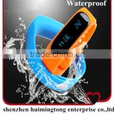 Waterproof display fitbit force wireless activity sleep wristband health smart vibrating bluetooth wristband