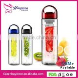 700ml Tritan Fruit Infuser Water Bottle , Lemon Cap Water Bottle with Handle For Healthy Life