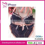 Hot Sale Japanese Push Up Women's Underwear Set, Lingerie Sexy Yong Girls and Lady's Brassiere Sets
