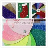 Custom Self Adhesive Glitter Paper Decorate Glitter Sticker Sheet Glitter Plastic Sheet Sticker