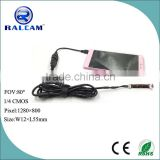 1280*800 resolution 80 Degree FOV USB HD Android Camera Module For Dental Endoscope