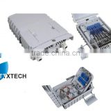 FTTH 2pcs 1*8 PLC splitter box splicing box 16cores fiber box