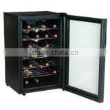 Electric Modern Wine Cabinet, Mirror Thermoelectric Wine Cooler, metal wine bottle holder