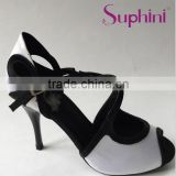 Black white shoes for dance tango