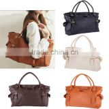 Lady OL Fashion Women Lady Big Capacity Tote Bag Satchel Shoulder Bag PU Leather Handbag