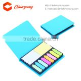 Lastest Sticky Note In Plastic Box With Colorful PU Case