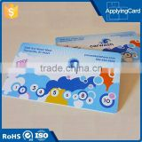 Free sample paper/ plastic prepaid phone calling scratch off card made in China