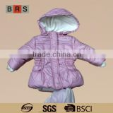 High quality baby girls pink winter jacket wholesale