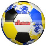 Official size and weight sporting goods new design and cool pu/pvc/rubber football factory soccer ball wholesale